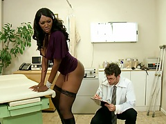 Hot black babe Nyomi Banxxx shaking her ass