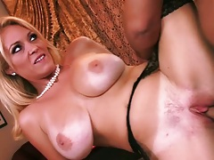Charlee Chase milf spreading her legs for shaved pussy entry