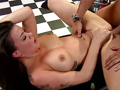Sophia is busty hot and sporty getting fucked